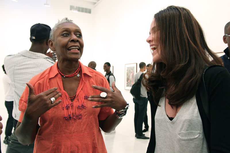 The visionary Bethann Hardison with the dynamic casting director Anita Bitton.