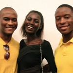 Yellow shirt alert! Kinee with new face James/NY Models and Javon