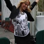 Karolina Kurkova, looking amazing, shows off her bump.
