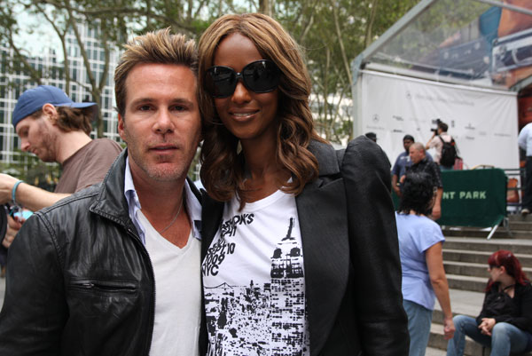 Iman with Scott Lipps, president of One Management.