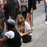 Angela Lindvall patiently waits.