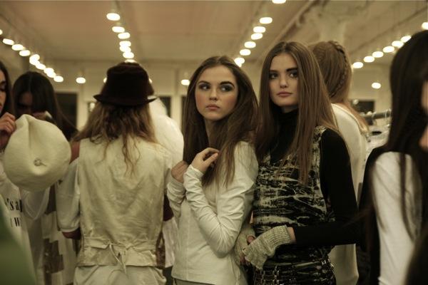 Prada campaign face Rasa Z with Katie Fogarty