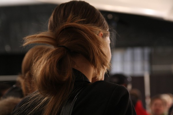 Yigal Azrouel: Hair by Teddy Charles