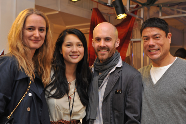 Christiana Tran (middle), casting director John Pfeiffer (right) with friends