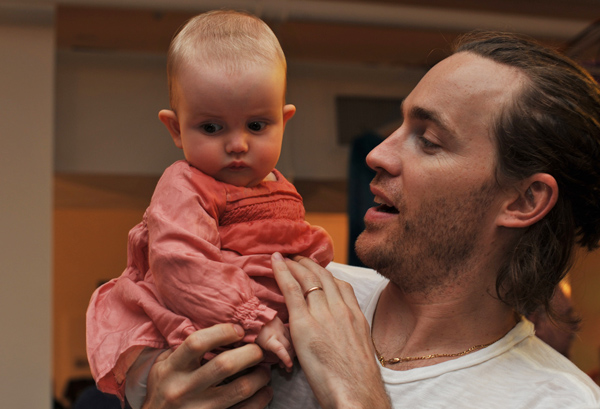 David Neville with his darling little one