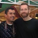 Photographer Craig Altamira with Marilyn's Chris Gay