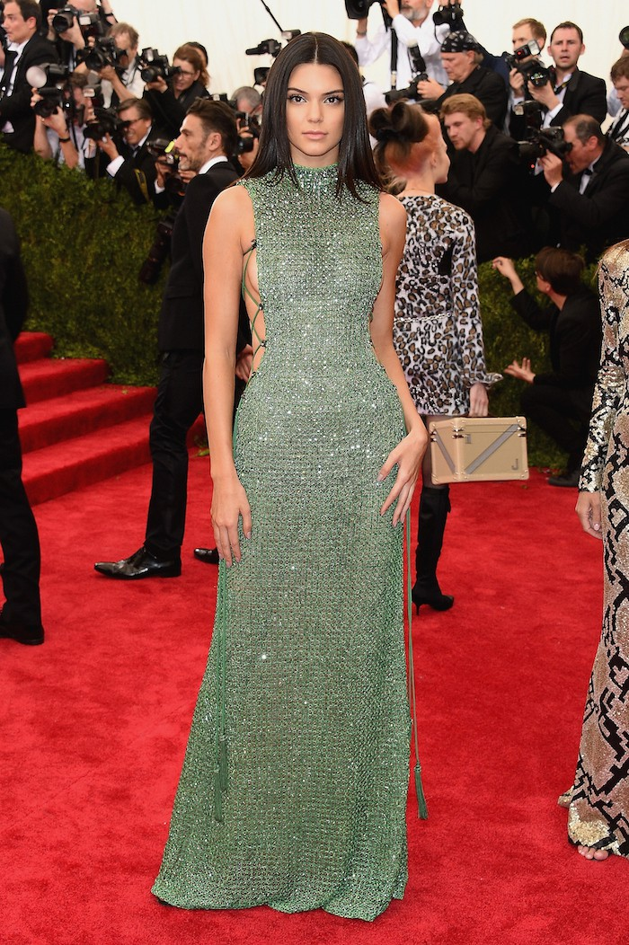 """NEW YORK, NY - MAY 04:  Kendall Jenner attends the """"China: Through The Looking Glass"""" Costume Institute Benefit Gala at the Metropolitan Museum of Art on May 4, 2015 in New York City.  (Photo by Larry Busacca/Getty Images)"""