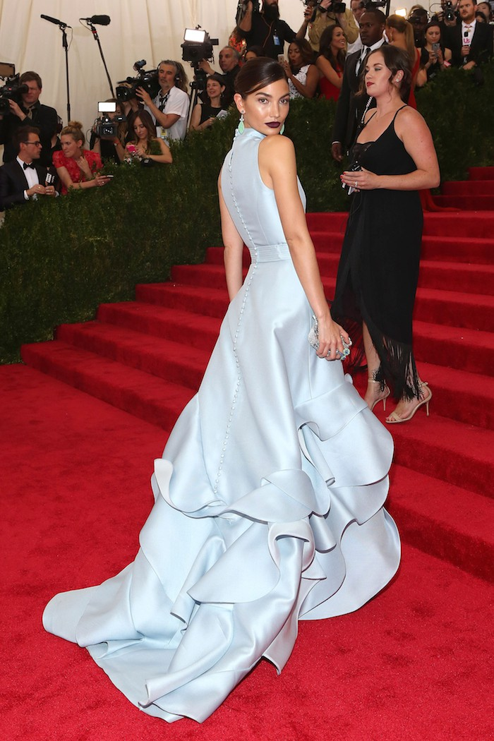 """NEW YORK, NY - MAY 04:  Model Lily Aldridge attends """"China: Through the Looking Glass"""", the 2015 Costume Institute Gala, at Metropolitan Museum of Art on May 4, 2015 in New York City.  (Photo by Taylor Hill/FilmMagic)"""