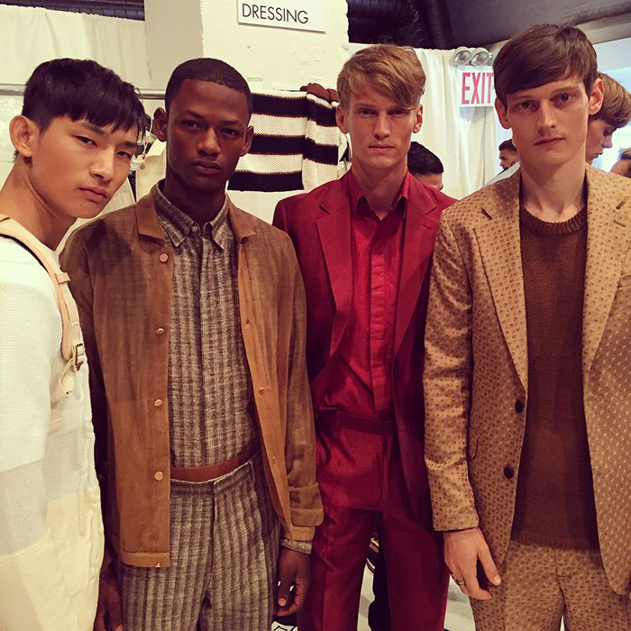 Sup-Park,-Lucas-Cristino,-Alexander-Johansson,-and-Adam-Butcher-at-Perry-Ellis