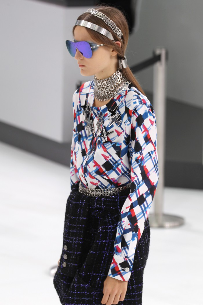 PARIS, FRANCE - OCTOBER 06:  A model walks the runway during the Chanel show as part of the Paris Fashion Week Womenswear Spring/Summer 2016  on October 6, 2015 in Paris, France.  (Photo by Antonio de Moraes Barros Filho/WireImage)