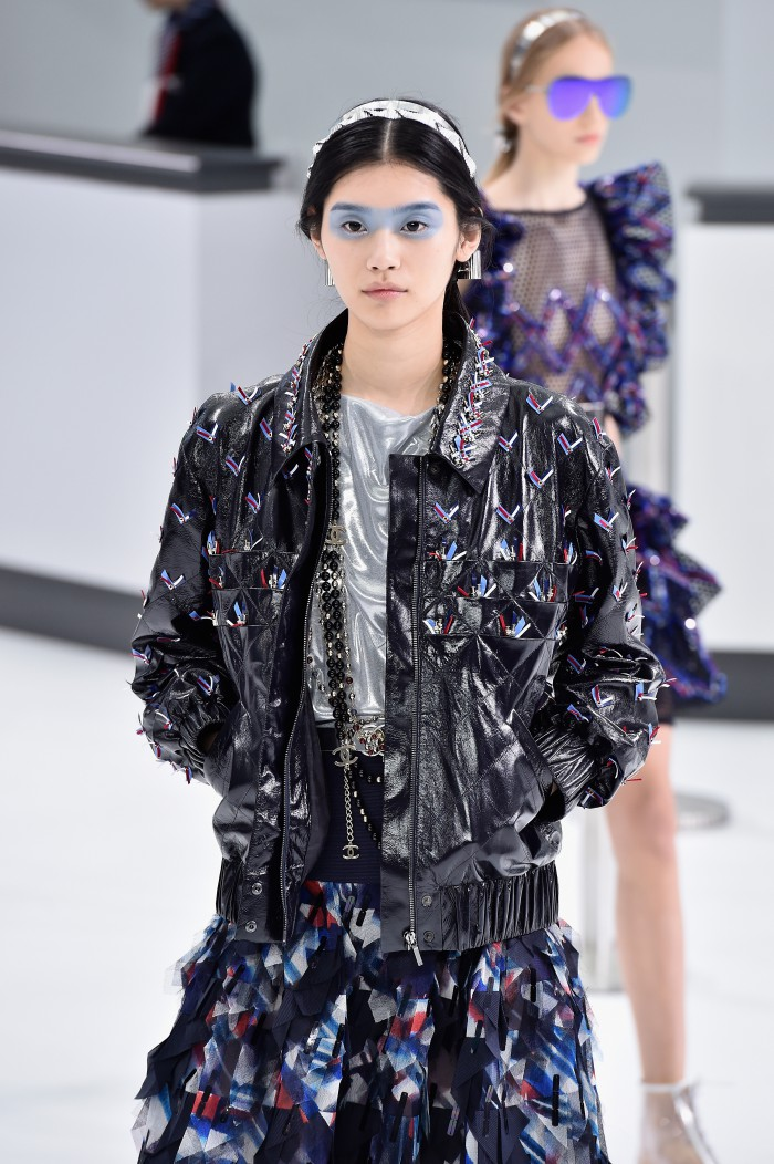 PARIS, FRANCE - OCTOBER 06:  A model walks the runway during the Chanel show as part of the Paris Fashion Week Womenswear Spring/Summer 2016 on October 6, 2015 in Paris, France.  (Photo by Pascal Le Segretain/Getty Images)