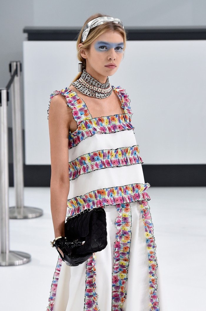 PARIS, FRANCE - OCTOBER 06:  Model Stella Maxwell walks the runway during the Chanel show as part of the Paris Fashion Week Womenswear Spring/Summer 2016 on October 6, 2015 in Paris, France.  (Photo by Pascal Le Segretain/Getty Images)