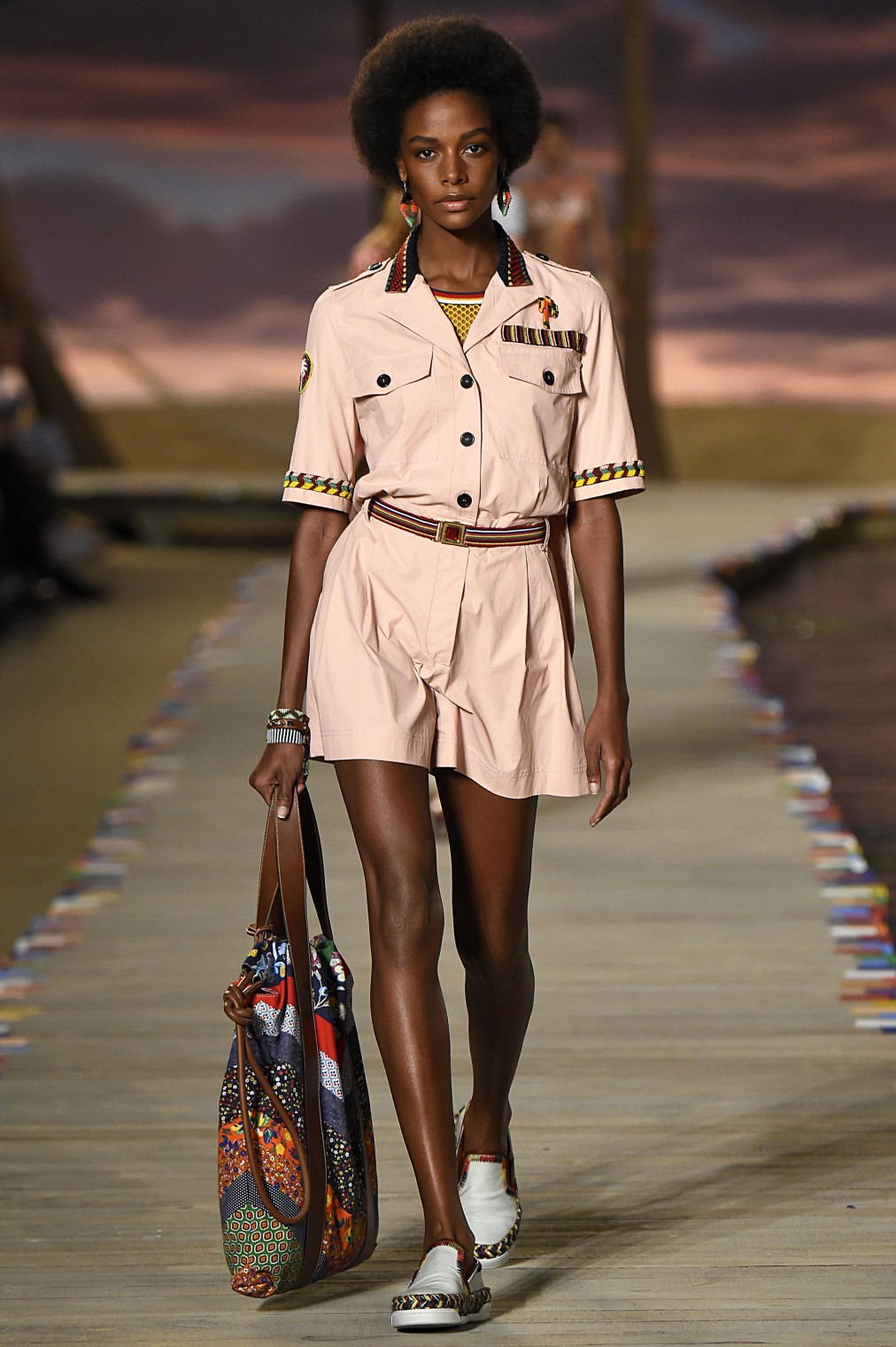 NEW YORK, NY - SEPTEMBER 14: Karly Loyce walks the runway at the Tommy Hilfiger Women's Spring Summer 2016 fashion show during the New York Fashion Week on September 14, 2015 in New York City. (Photo by Victor VIRGILE/Gamma-Rapho via Getty Images)