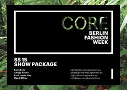 CORE SS15 Cover