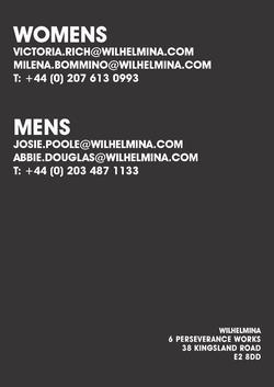 Wilhelmina London    78407648