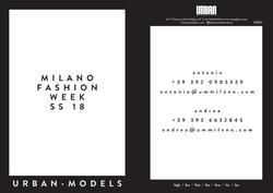 Show Package – Milan S/S 18: Urban Models Milano (Women