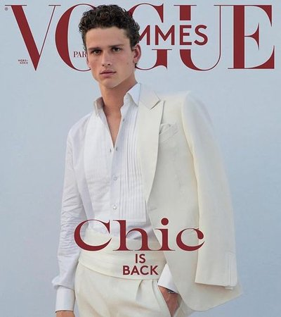 Simon Nessman - Ph: Ethan James Green for Vogue Hommes F/W 18 Cover