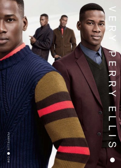 David Agbodji - Ph: Thomas Lohr for Perry Ellis 2015