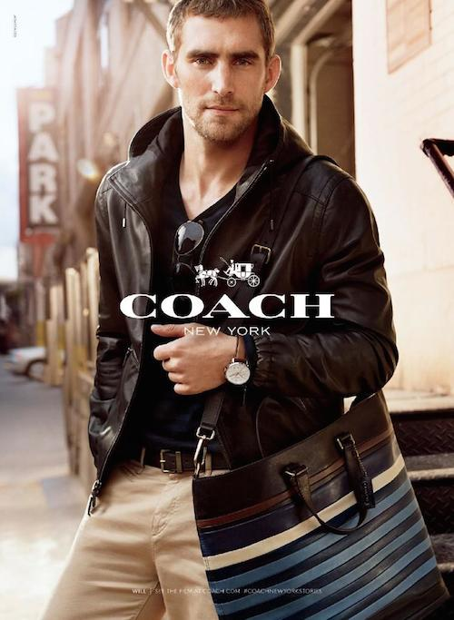 Will Chalker - Photo: Craig McDean for Coach S/S 14