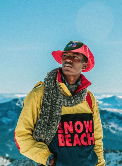 Hamid Onifade - Ph: Tom Gould for Polo Ralph Lauren Snow Beach 2018