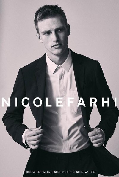 Victor Nylander - Ph: Simon James Lee for Nicole Farhi S/S 17