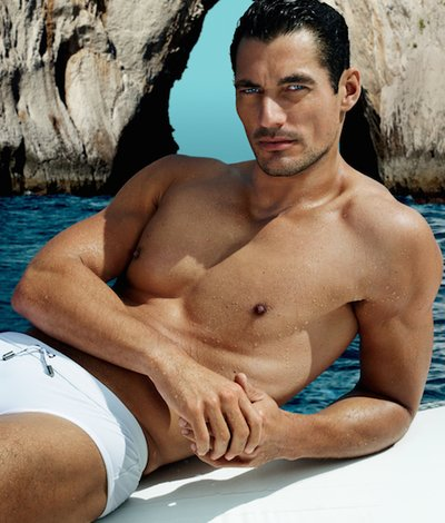 David Gandy - Ph: Mario Testino for Dolce Gabbana Light Blue Fragrance 2014