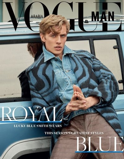 Lucky Blue Smith - Ph: Ben Lamberty Vogue Arabia Man Nov 18 Cover