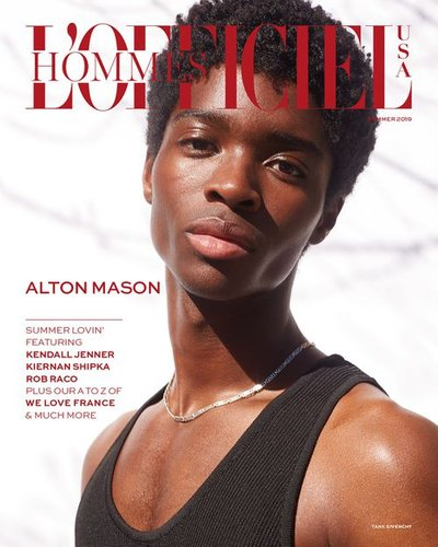 Alton Mason - Ph: Anthony Maule for L'Officiel Hommes USA Summer 2019