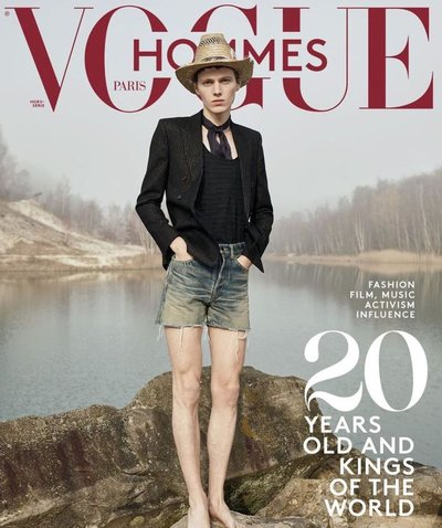Daan Duez - Ph: Willy Vanderperre for Vogue Hommes S/S 20