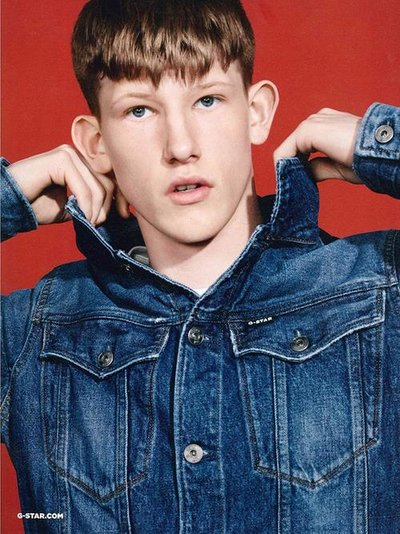 Connor Newall - Ph: Collier Schorr for G- Star Fall 2017