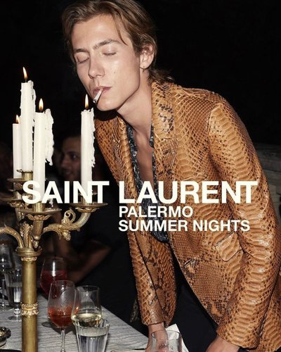 Paul Hameline - Ph: Cameron McCool for YSL Palermo Summer Night 2018 teaser