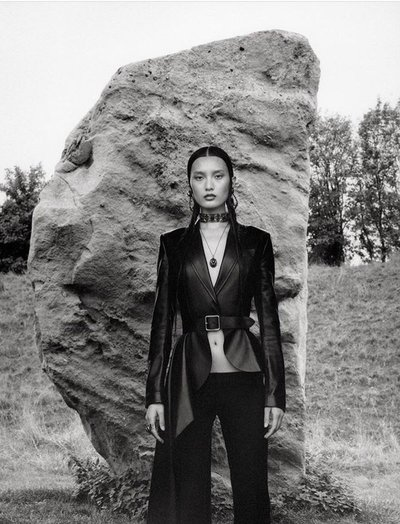Chunjie Liu - Ph: Jamie Hawkesworth for Alexander McQueen S/S 19