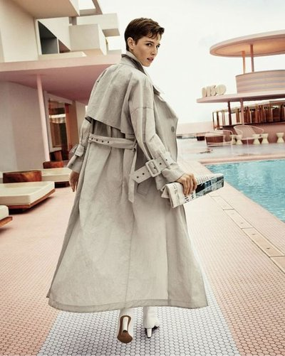 Emily Gafford - Ph: Enrique Badulescu for Emporio Armani S/S 19