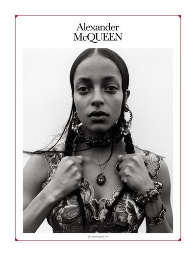 Kesewa Aboah - Ph: Jamie Hawkesworth for Alexander McQueen S/S 19