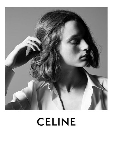 Kaila Wyatt - Ph: Hedi Slimane for Celine Summer 2019