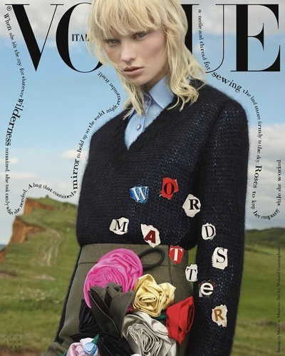 Vilma Sjöberg - Ph: Mert Alas and Marcus Piggot for Vogue Italia September 2019 Cover