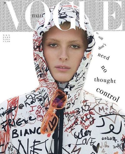 Florence Hutchings - Ph: David Sims for Vogue Italia November 2019 Cover