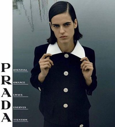 Miriam Sanchez - Ph: Jamie Hawkesworth for Prada S/S 20