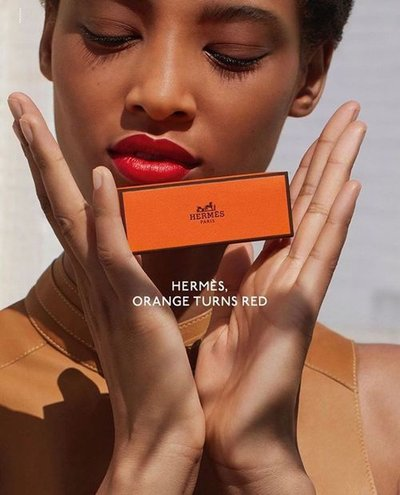 Janaye Furman - Ph: Jack Davison for Hermes Beauty Spring 2020
