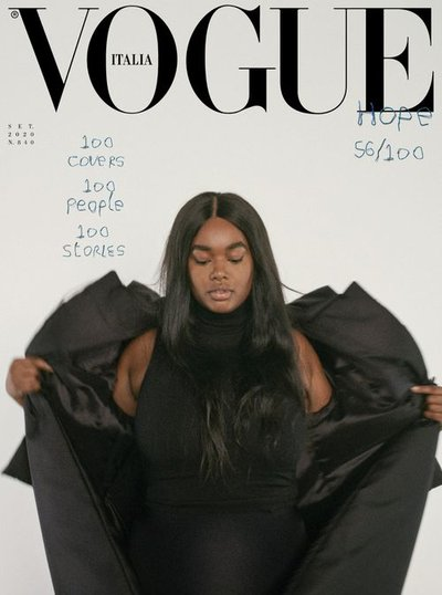 Precious Lee - Ph: Mark Borthwick for Vogue Italia September 2020 Cover