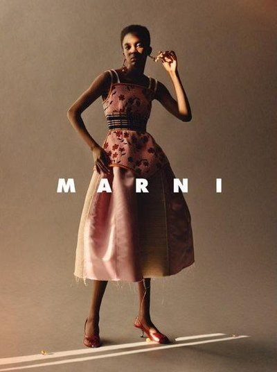 Nicole Atieno - Ph: Jamie Hawkesworth for Marni S/S 2018