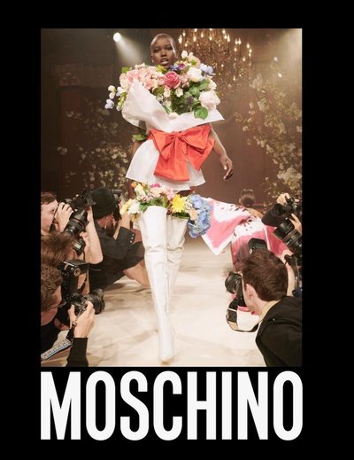 Adut Akech - Ph: Steven Meisel for Moschino S/S 2018