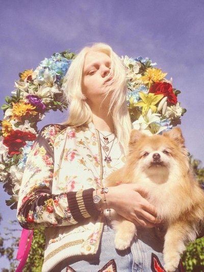 Unia Pakhomova - Ph: Petra Collins for Gucci Chinese New Year 2018