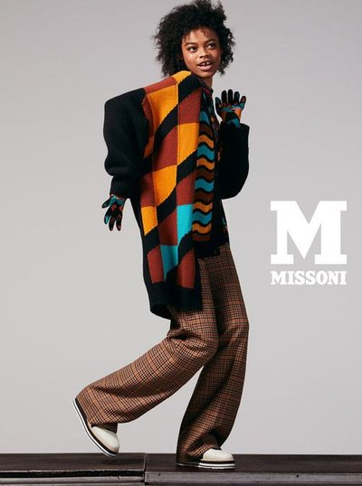 Aaliyah Hydes - Ph: Mel Bles for M Missoni F/W 18
