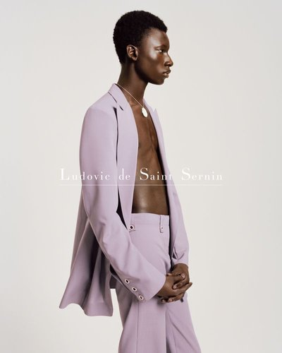 Tamsir Thiam - Ph: Brett Lloyd for Ludovic de Saint Sernin S/S 19