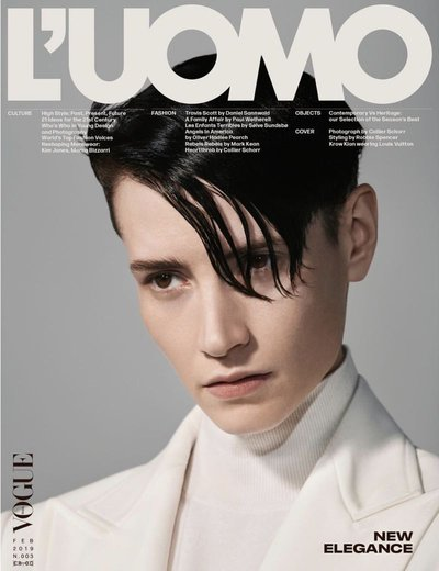Krow Kian - Ph: Collier Schorr for L'Uomo Vogue Feb 2019