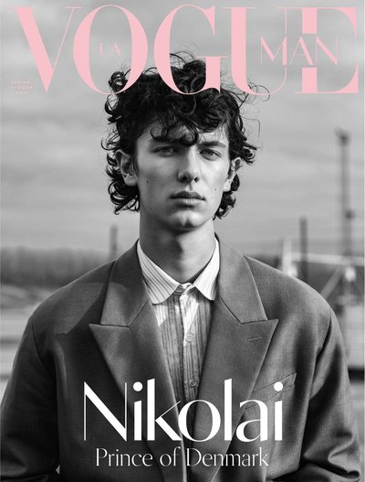 Prince Nikolai of Denmark - Ph: Marco van Rijt for Vogue Ukraine Man Spring 2019