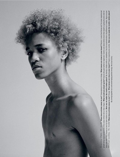 Michael Lockley - Ph: Daniel Jackson for i-D Magazine S/S 15