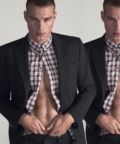 Matthew Noszka - Ph: Mert and Marcus for Dsquared2 S/S 17