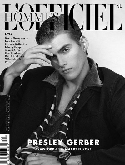 Presley Gerber - Ph: Cameron McNee for L'Officiel Hommes Netherlands Spring/Summer 2018